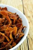 Dried chanterelle mushrooms Stock Photography