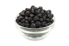 Dried cherries in a glass container Royalty Free Stock Images