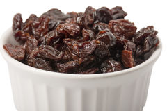 Dried Cherries in Ramekin. A ramekin filled with dried cherries Stock Images