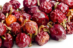 Dried cherry peppers Stock Photography
