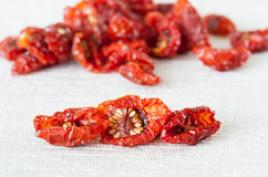 Dried cherry tomatoes close-up Stock Photography