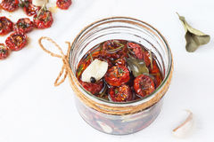 Dried Cherry Tomatoes With Herbs And Spices Stock Images