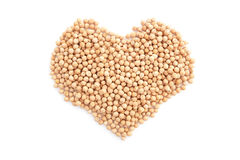 Dried chick peas in a heart shape Stock Photos