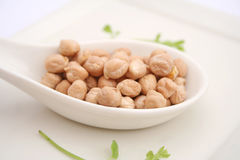 Dried chick peas Stock Photo