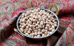 Dried chickpea garbanzo bean Royalty Free Stock Photo