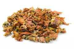 Dried pepper. Dried chile peppers can be earthy, floral, fruity, hot, smoky and sweet and they come in various shapes and sizes. There are more than 3000 known Stock Images