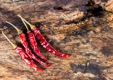 Dried chili Stock Photo