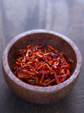 Dried chili flakes Stock Images