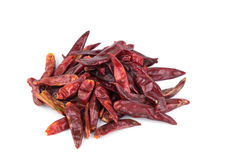 Dried chili isolate white background Royalty Free Stock Photo