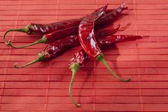 Dried Chili Peppers Royalty Free Stock Photo