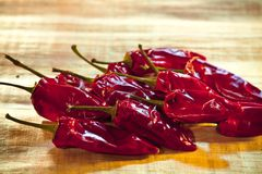 Dried Chili Peppers Stock Photos