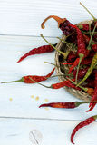 Dried Chili Peppers Stock Images