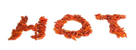 Dried chili peppers paprika hot Stock Photo