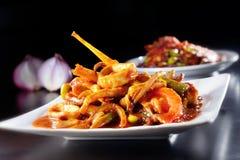 Free Dried Chili Sause Squid Stock Photos - 34751933