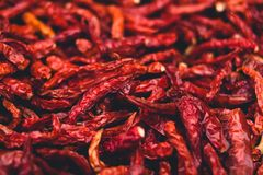 Dried chilli Red chilli spices garnish hot spicy Royalty Free Stock Photography