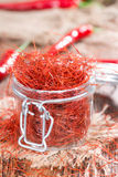 Dried Chilli Strings Stock Image