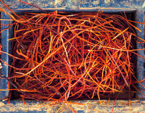 Dried chilli threads Royalty Free Stock Photography