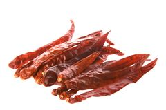 Dried Chillies Isolated Stock Photo