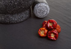 Dried Chillis Stock Photography