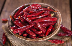 Dried Chillis Royalty Free Stock Image