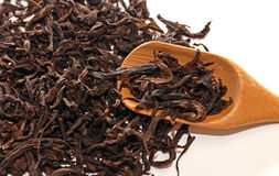 Dried chinese black tea leaves. Royalty Free Stock Photos