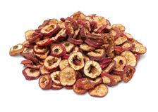 Dried chinese hawthorn fruits, traditional chinese herbal medicine, stock photography