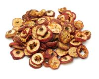 Dried chinese hawthorn fruits, traditional chinese herbal medicine, royalty free stock photos