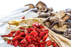 Dried Chinese herbs Stock Images