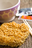 Dried chinese noodles Stock Photo