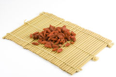 Dried Chinese wolfberries. Traditional Chinese Medicine - Dried Chinese wolfberries Stock Photography