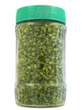 Dried chive in jar Royalty Free Stock Photography