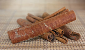 Dried cinnamon Stock Images