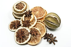 Dried citrus fruits Stock Images