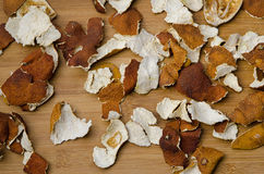 Dried citrus peel Royalty Free Stock Images