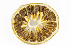 Dried citrus slice. Isolated on white background Royalty Free Stock Photo