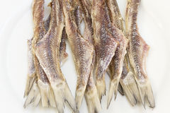 Dried cleaned fish Royalty Free Stock Photos