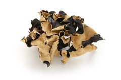 Dried cloud ear fungus stock photo
