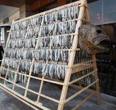 Dried cods near the street restaurant
