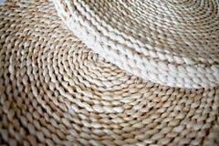 Dried corn husk mats. Chinese handcraft dried corn husk mats Royalty Free Stock Photography