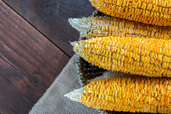 Dried Corn Stalk in basket Stock Photos