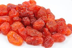 Dried Cornelian Cherries on White Stock Image