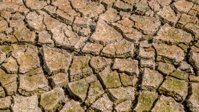 Dried cracked earth soil ground texture background. Crack soil on dry season, Global worming effect stock images