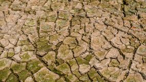 Dried cracked earth soil ground texture background. Crack soil on dry season, Global worming effect stock photography