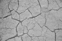 Dried cracked earth soil ground texture background. Mosaic pattern of sunny dried earth soil Royalty Free Stock Photography
