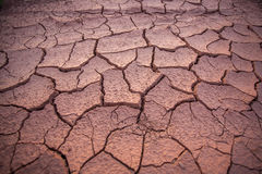 Dried and cracked mud close up in thailand Royalty Free Stock Photography