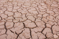 Dried cracked mud,drought land , waterless, in thailand Stock Photos