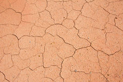 Dried cracked mud,drought land , waterless, in thailand Royalty Free Stock Photo