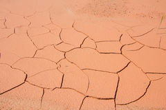 Dried cracked mud,drought land , waterless, in thailand Royalty Free Stock Image