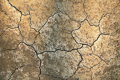 Dried cracked soil Royalty Free Stock Photos
