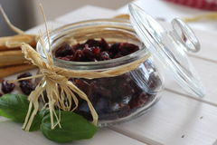Dried cranberries, biscuits, italian food, italian snacks, italian biscuits Stock Images